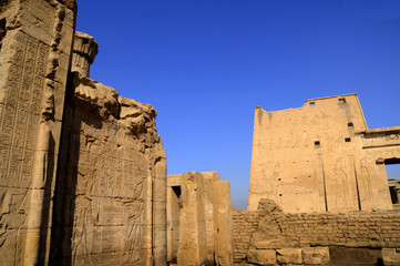 Temple at Edfu in Egypt which is dedicated to the God Horus