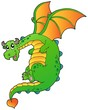 Flying fairy tale dragon