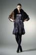 fashion model in fashion dress posing in the studio
