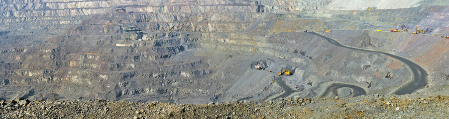 panorama open-cast mine of iron ore