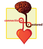 connection between heart and brain restored - illustration poster
