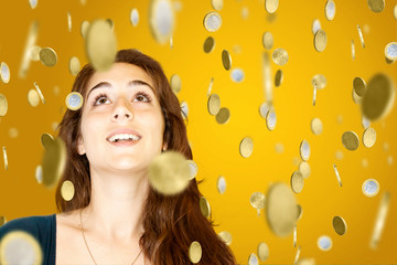 Woman in Gold Rain