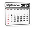 calendar 2012 - september month