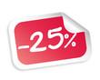 -25 % Sticker