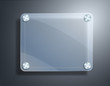 glass frame on metallic background