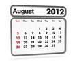calendar 2012 - august month