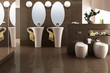Cup designed bathroom