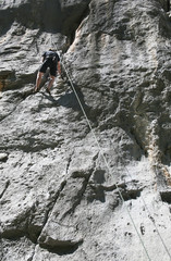 Climbing, rock wall in Paklenica national park