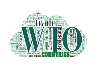 WTO - World Trade Organization word collage
