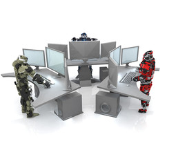 3d computers with robots