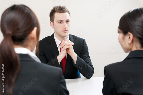 businessperson on the meeting