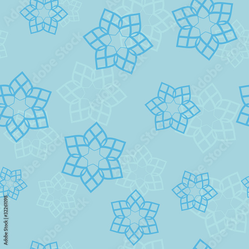 blue seamless pattern with geometric elements