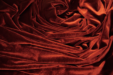darkl red glossy velvet is formative folds and shadow picture