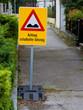 Schadhafter Bürgersteig