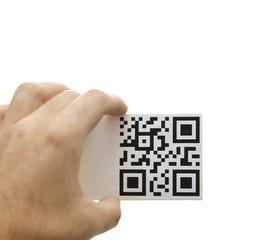 qr hand message