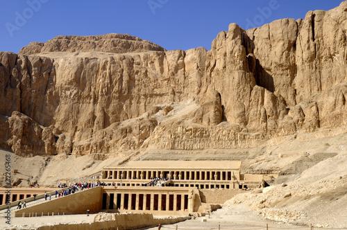 Poster Egypte Mortuary Temple of the female Pharaoh Hatshepsut Luxor Egypt