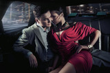 Sexy sitting couple in car - Fine Art prints