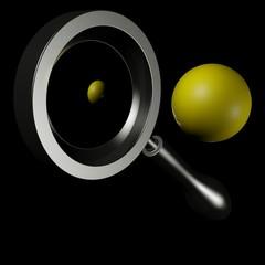 Specchio convesso con pallina gialla