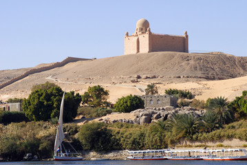 The Tomb of the Aga Khan at Aswan on the banks of the River Nile