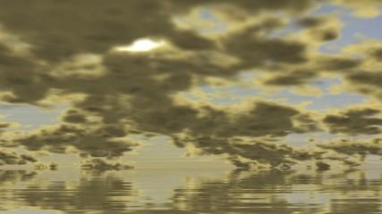 Sonnenuntergang im Meer - Zeitraffer (25i)