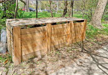 Wooden container for Compost bins