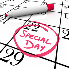 Calendar - Special Day Circled for Anticipated Date