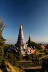 Pagoda on Doi Inthanon, Chiang Mai, Thailand.