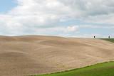 Terreno arato pronto per la semina in Toscana a Grosseto poster