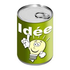 Boite de conserve - Idée - Vert
