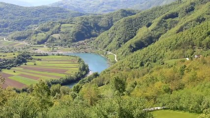 Drina-Fluss den Bergen,Tara-Gebirge,Serbien,HD Video
