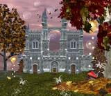 Krásný hrad v krajině