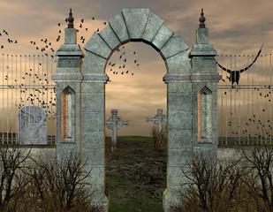 antico cimitero gotico