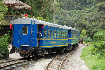 PeruRail at Aguas Calientes Station (Machu Picchu, Peru)