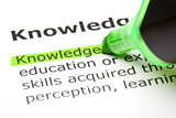 The word 'Knowledge' highlighted in green