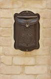 Antique metal mail box