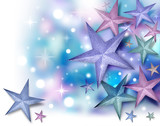 Glitter Star Background with Twinkles poster