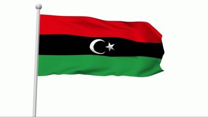 Fahne Libyen Königreich NTSC