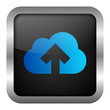 blue icon set - upload to the cloud