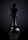 Chess Black King - Vector Illustration