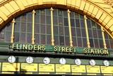 Fototapety Flinders Street Station. Australia, Melbourne.