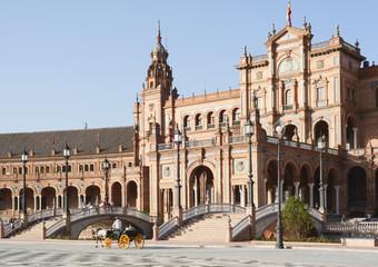 Sevilla, Plaza de España, Palacio Español