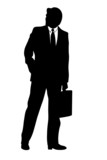 business man illustration silhouette