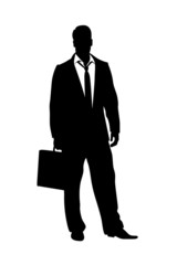 business man silhouette illustration
