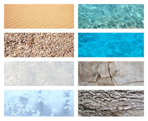 NATURE TEXTURE  COLLAGE