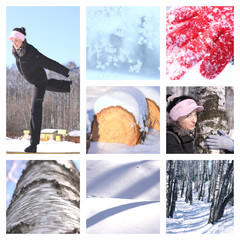 winter leisure collage