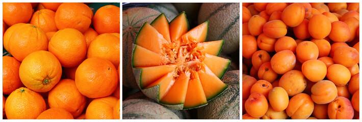 Triptyque fruits d'été