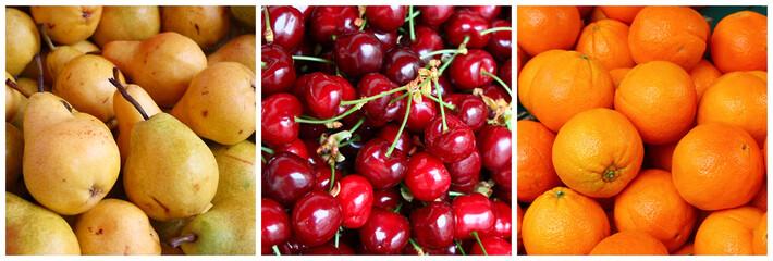 Triptyque fruits