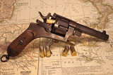 Italian made Revolver with Ammunition Displayed on Map of Italy