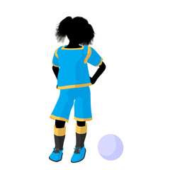 Female Tween Soccer Player Illustration Silhouette