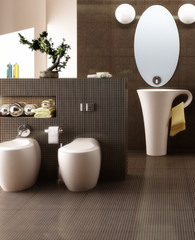 Cup designed bathroom (focus)
